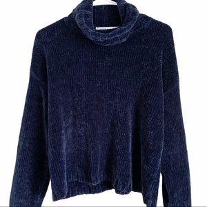 Nuggets    Vintage Blue Cropped Sweater Medium